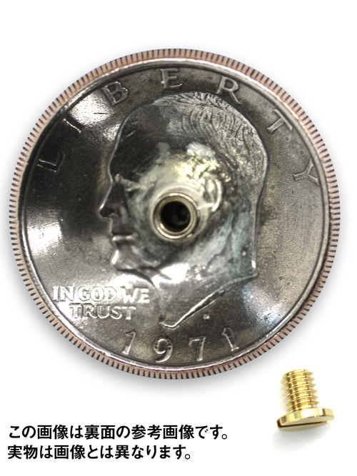 USAコインコンチョ/silver900製/モルガンダラー/37mm [SEIWA]