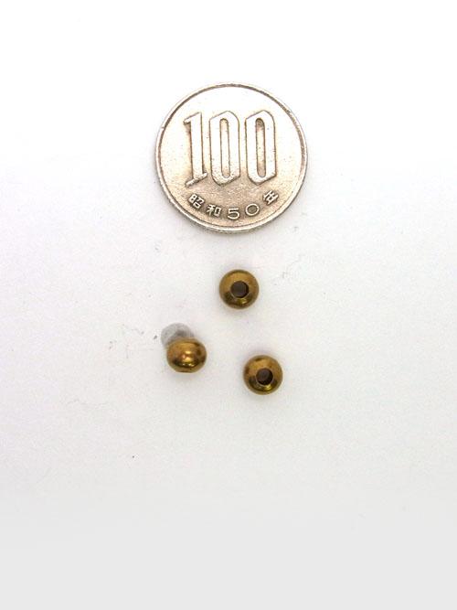 真鍮製ビーズ/6mm [ポイント40倍]