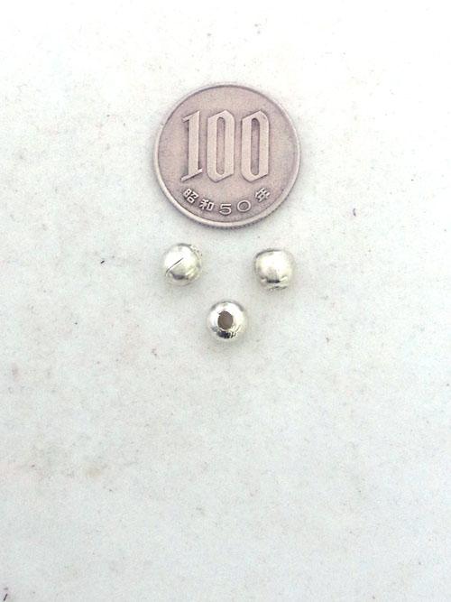 真鍮製ビーズ/銀色/6mm [ポイント40倍]