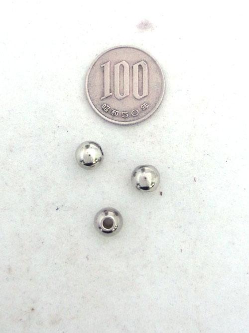 真鍮製ビーズ/銀色/8mm [30%OFF]