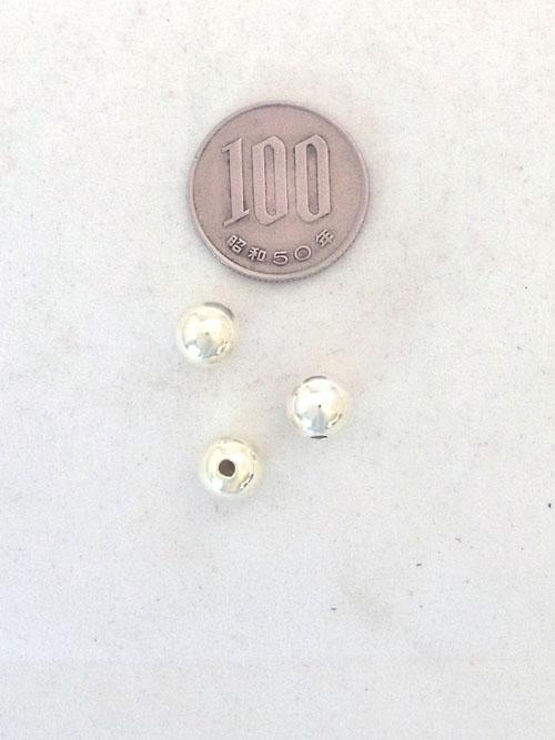 silver925ビーズ/8mm [silver] [ポイント40倍]
