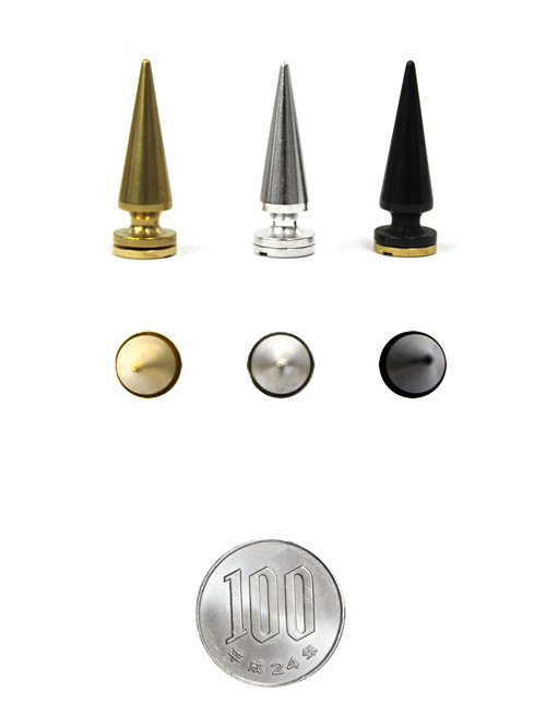 ロンドン鋲/真鍮製/L/直径10mm高さ28.5mm [br]