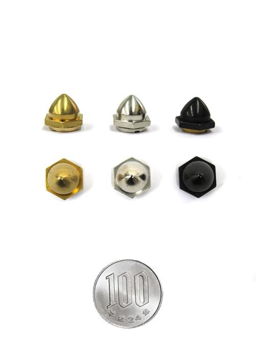 新ロンドン鋲/真鍮製/M/直径12×14mm(高さ9.5mm) [br] [10%OFF]