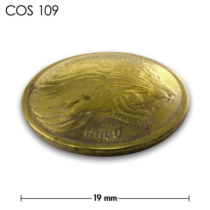 コンチョ/エチオピア/5セント/真鍮色/19mm [30%OFF]