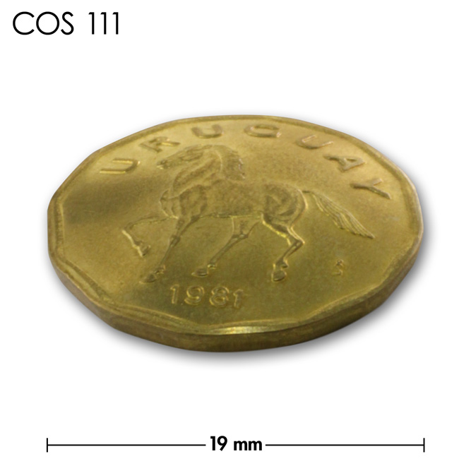 コンチョ/ウルグアイ/10センテシモ/真鍮色/19mm [10%OFF]