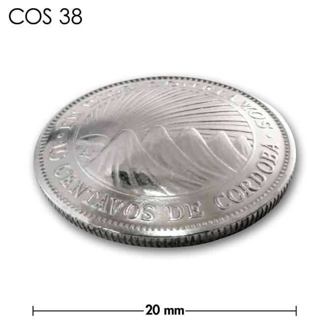 コンチョ/ニカラグア/10センタボ/銀色/20mm [10%OFF]