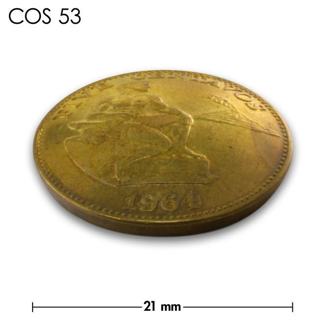 コンチョ/フィリピン/5センタボ/真鍮色/21mm [10%OFF]