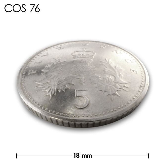 コンチョ/イギリス/5ペンス/銀色/18mm [ポイント40倍]