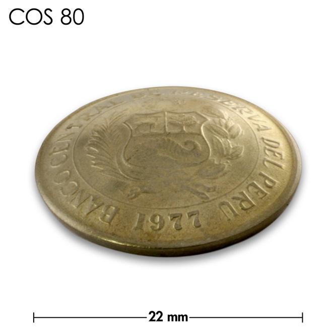 コンチョ/ペルー/5センチモ/真鍮色/22mm [40%OFF]