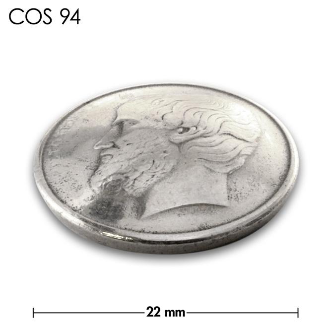 コンチョ/ギリシャ/5ドラクマ/銀色/22mm [10%OFF]