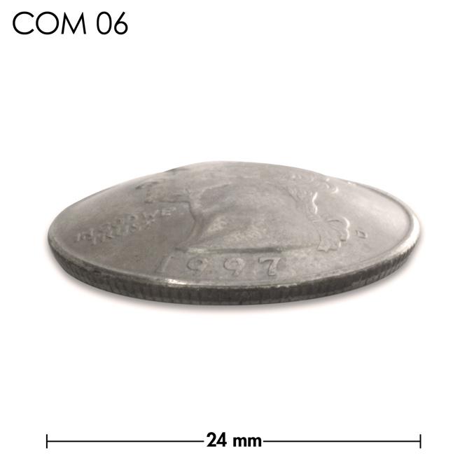 コンチョ/アメリカ/25セント/人物/銀色/24mm [10%OFF]