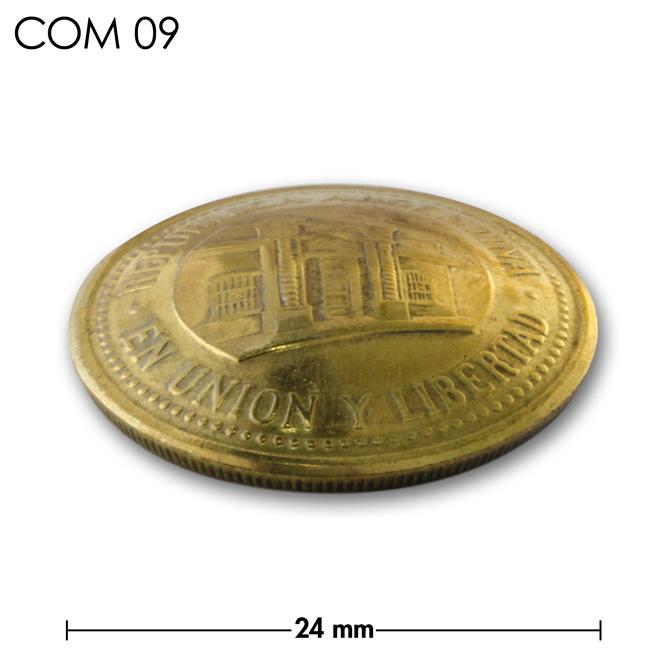 コンチョ/アルゼンチン/50センタボ/建物/真鍮色//24mm [ポイント40倍]