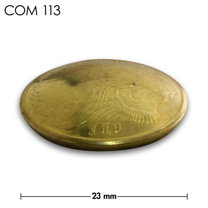 コンチョ/エチオピア/10セント/ライオン/真鍮色/23mm [40%OFF]