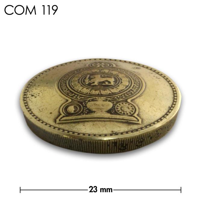 コンチョ/スリランカ/5ルピー/紋章/真鍮色/23mm [30%OFF]