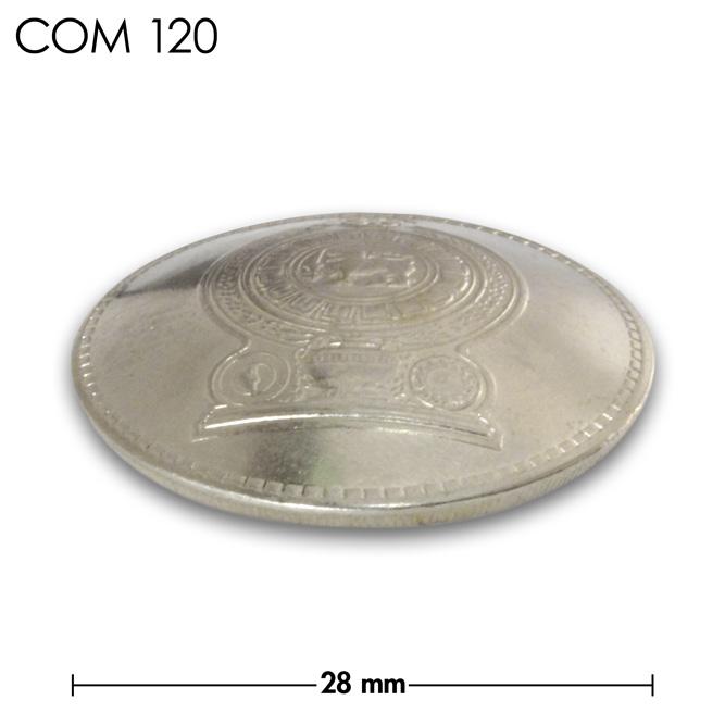 コンチョ/スリランカ/2ルピー/紋章/銀色/28mm [30%OFF]