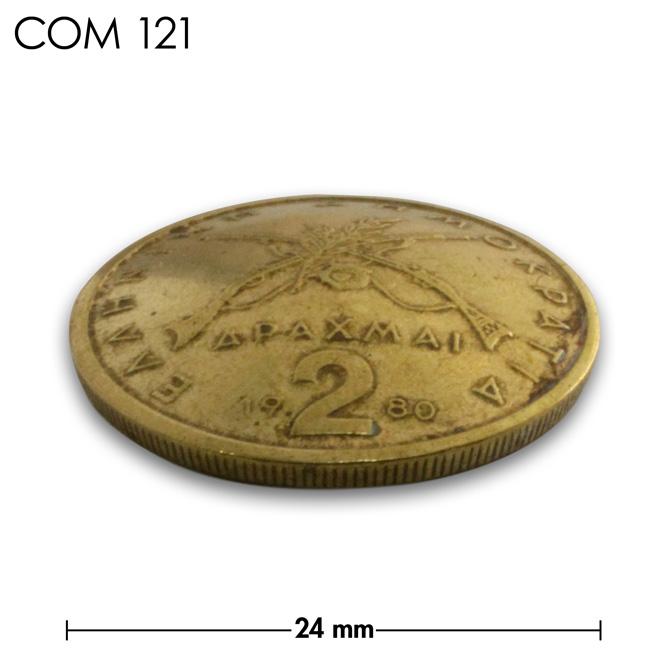 コンチョ/ギリシャ/2ドラクマ/紋章/真鍮色/24mm [10%OFF]
