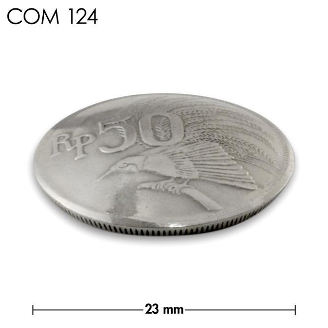 コンチョ/インドネシア/50ルピア/鳥/銀色/23mm [10%OFF]