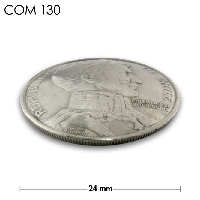 コンチョ/チリ/1ペソ/銀色/24mm [10%OFF]