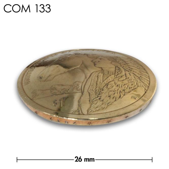 コンチョ/アメリカ/1ドル/真鍮色/26mm [30%OFF]