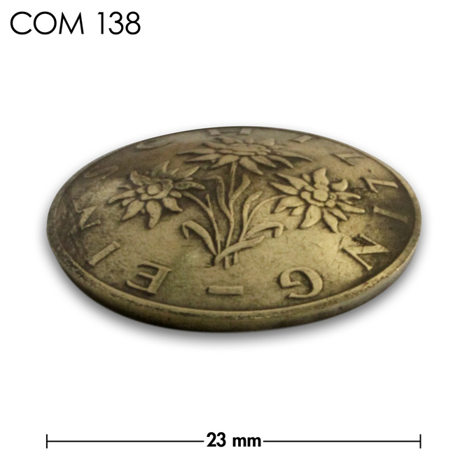 コンチョ/オーストリア/1シリング/真鍮色/23mm [10%OFF]