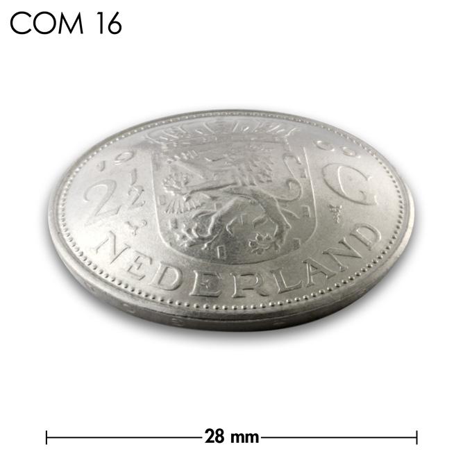 コンチョ/オランダ/2.5ギルダー/紋章/銀色/28mm [30%OFF]