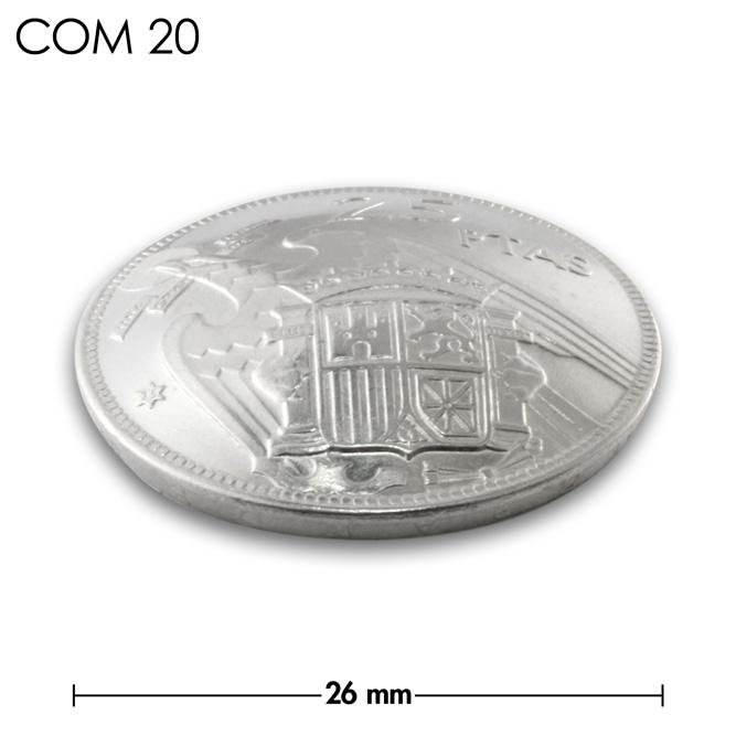 コンチョ/スペイン/25ペセタ/紋章/銀色/26mm [30%OFF]