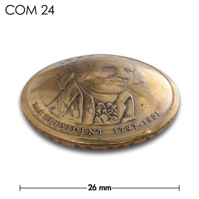 コンチョ/アメリカ/1ドル/JOHN/ADAMS/真鍮色/26mm [ポイント40倍]