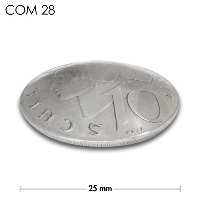 コンチョ/オーストリア/10シリング/人物/銀色/25mm [40%OFF]