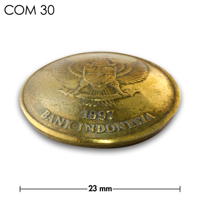 コンチョ/インドネシア/500ルピア/鳥/真鍮色/23mm [30%OFF]