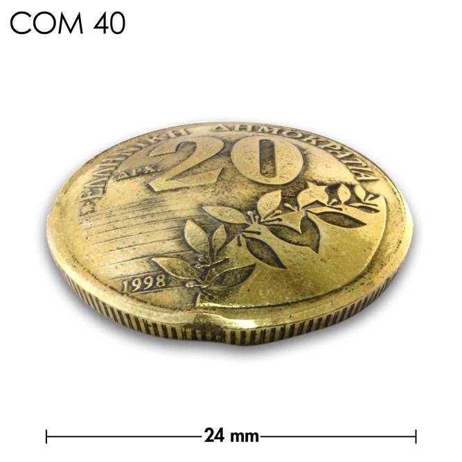 コンチョ/ギリシャ/20ドラクア/植物/真鍮色/24mm [40%OFF]