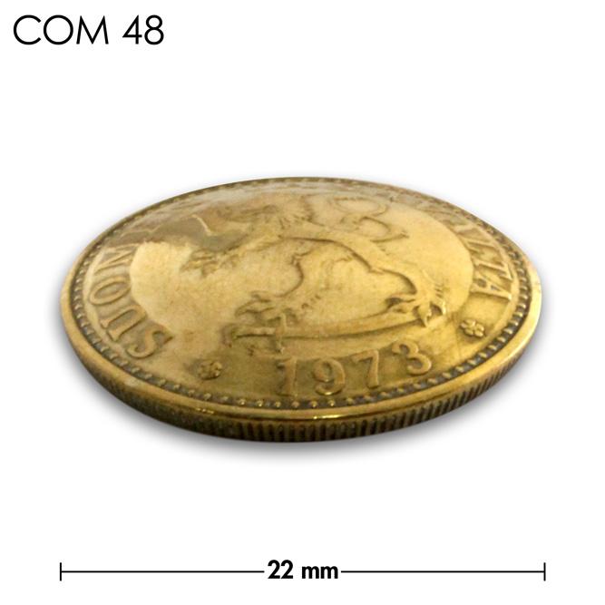 コンチョ/フィンランド/20ペニア/ライオン/真鍮色/22mm [10%OFF]