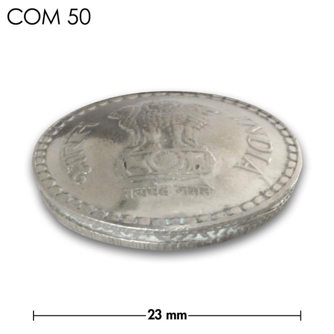 コンチョ/インド/5ルピー/ライオン/銀色/23mm [30%OFF]