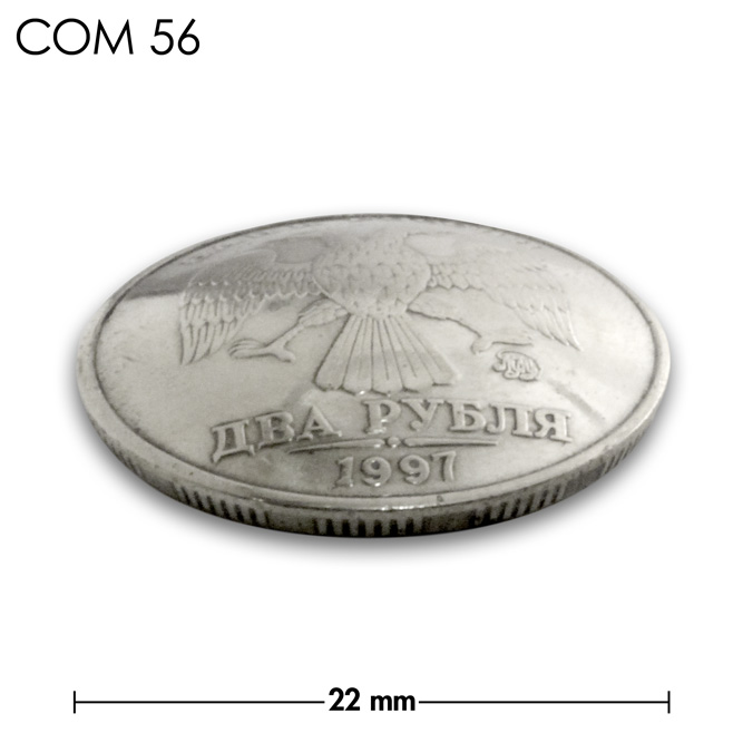 コンチョ/ロシア/2ルーブル/鳥/銀色/22mm [ポイント40倍]
