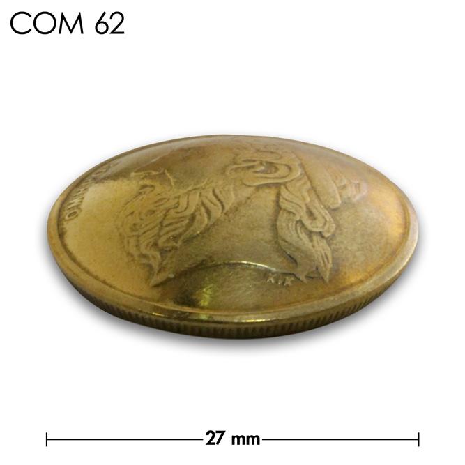 コンチョ/ギリシャ/50ドラクマ/人物/真鍮色/27mm [ポイント40倍]