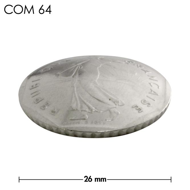 コンチョ/フランス/2フラン/人物/銀色/26mm [30%OFF]