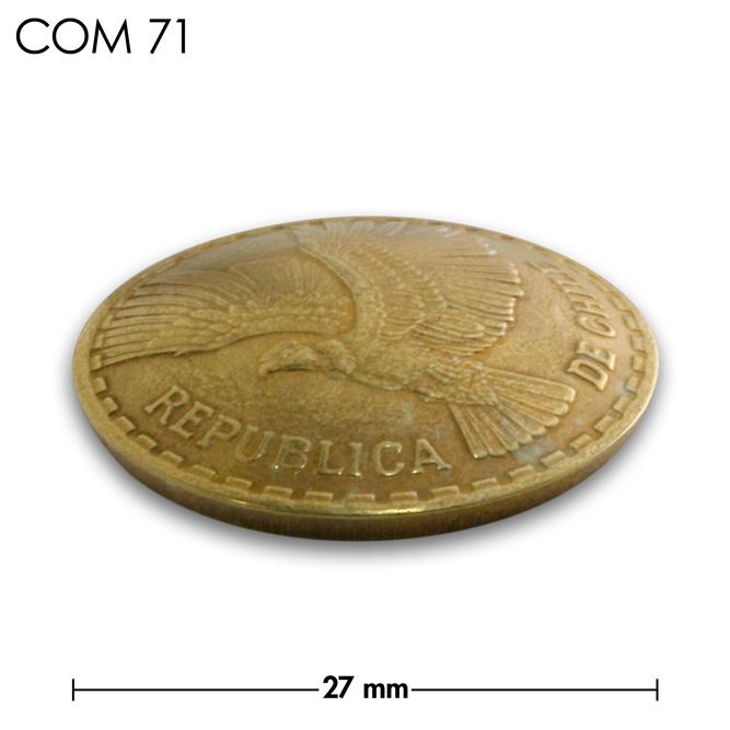 コンチョ/チリ/10センテシモ/鳥/真鍮色/27mm [10%OFF]