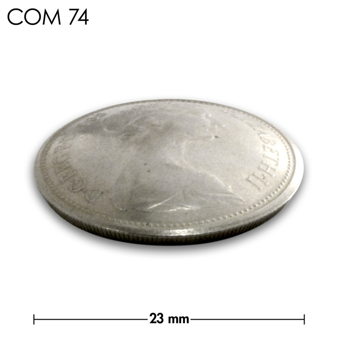 コンチョ/イギリス/旧5ペンス/エリザベス前期/銀色/23mm [30%OFF]