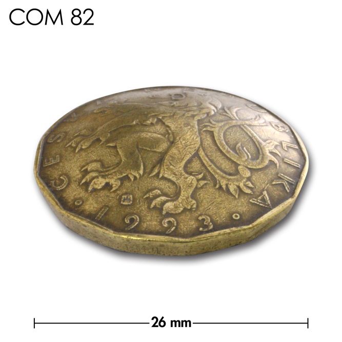 コンチョ/チェコ/20コルナ/紋章/真鍮色/26mm [ポイント40倍]