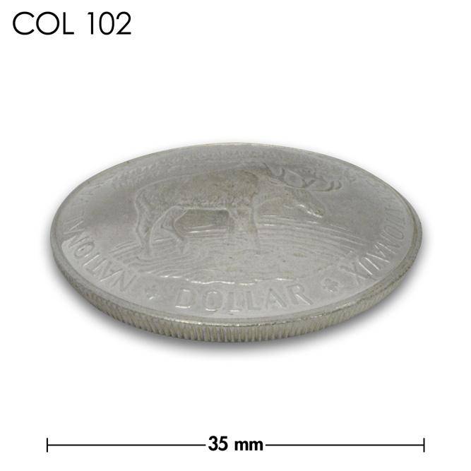 コンチョ/カナダ/DOLLAR銀貨/大鹿/銀色/35mm [10%OFF]