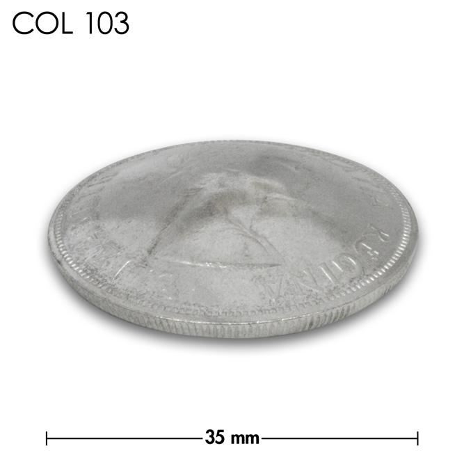 コンチョ/カナダ/DOLLAR銀貨/エリザベス女王/銀色/35mm [20%OFF]