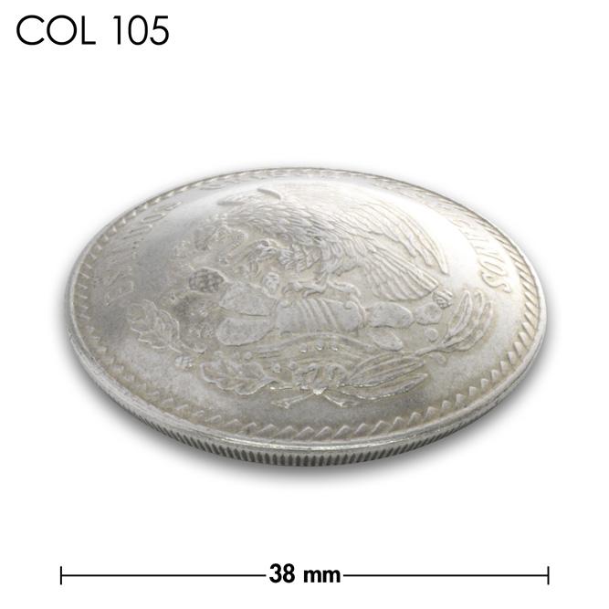 コンチョ/メキシコ/5ペソ/銀貨/鳥/銀色/38mm [10%OFF]