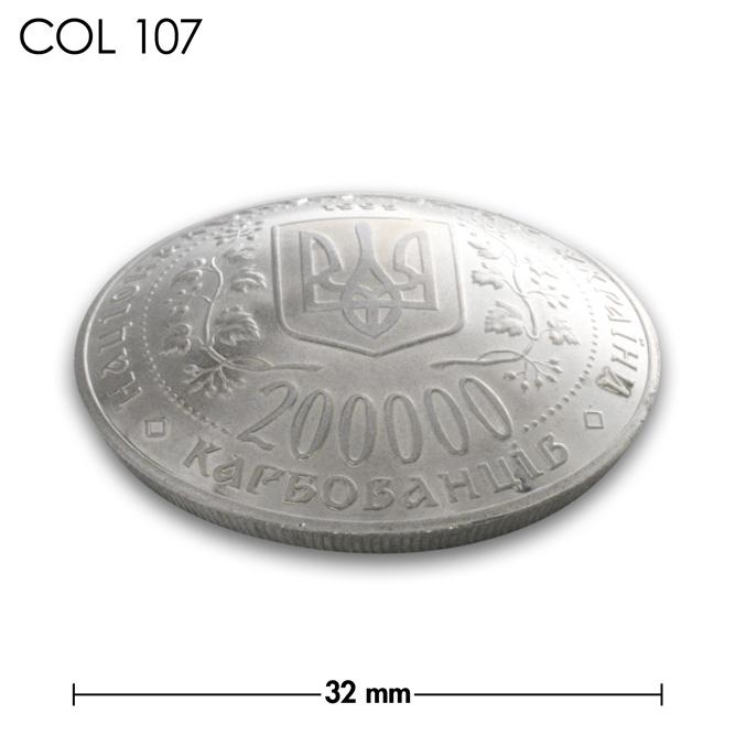 コンチョ/ウクライナ/200000カルボバネツ/紋章/銀色/32mm [30%OFF]