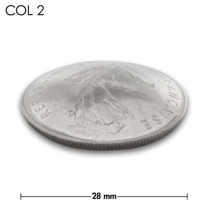 コンチョ/フランス/5フラン/人物/銀色/28mm [30%OFF]