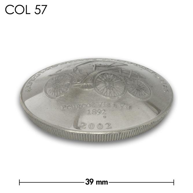 コンチョ/コンゴ/10フラン/プジョー/銀色/39mm [40%OFF]