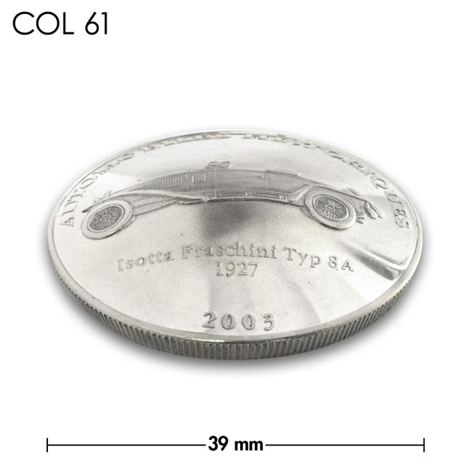 コンチョ/コンゴ/10フラン/フランス8A型/銀色/39mm [ポイント40倍]