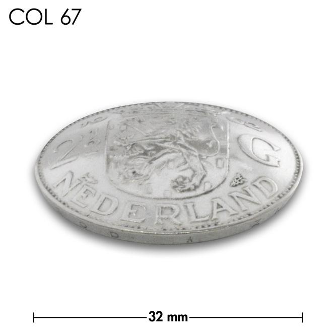 コンチョ/オランダ/2.5ギルダー/紋章/銀色/銀貨/32mm [10%OFF]
