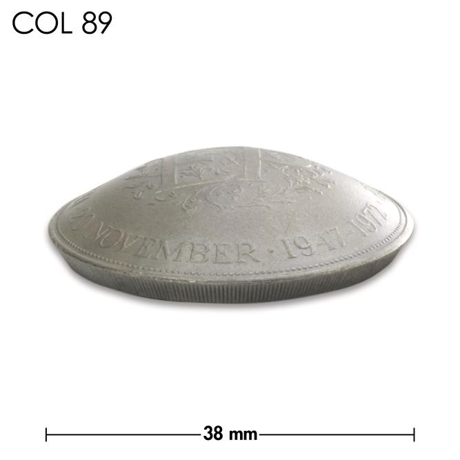コンチョ/エリザベス2世/結婚25周年記念コイン/銀色/38mm [30%OFF]
