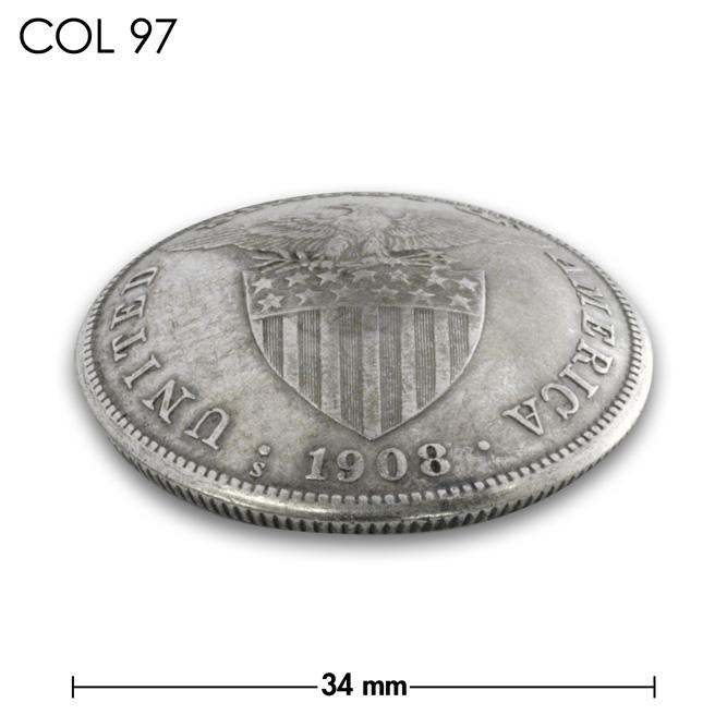 コンチョ/フィリピン/1ペソ銀貨/紋章/銀色/34mm [10%OFF]