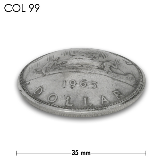 コンチョ/カナダ/1ドル銀貨/カヌー/銀色/35mm [20%OFF]