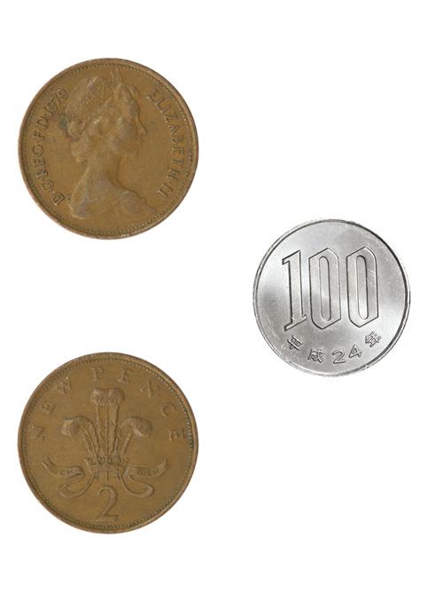 コイン/イギリス/2ペンス(エリザベス2世前期)/26mm [ポイント40倍]